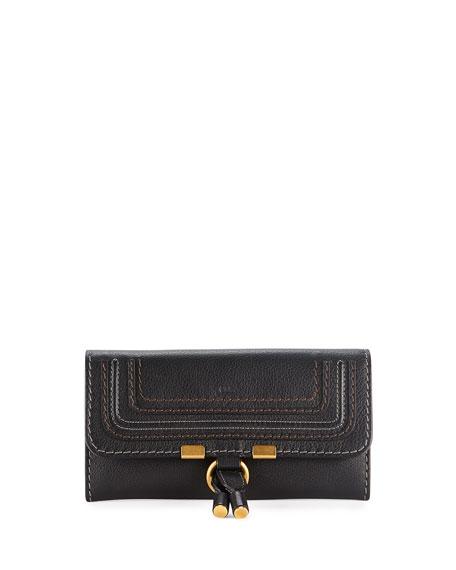 Chloe Marcie Continental Flap Wallet, Black