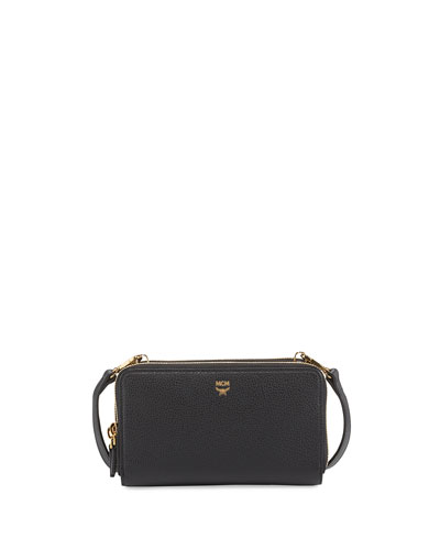 Milla Double-Zip Wallet Crossbody