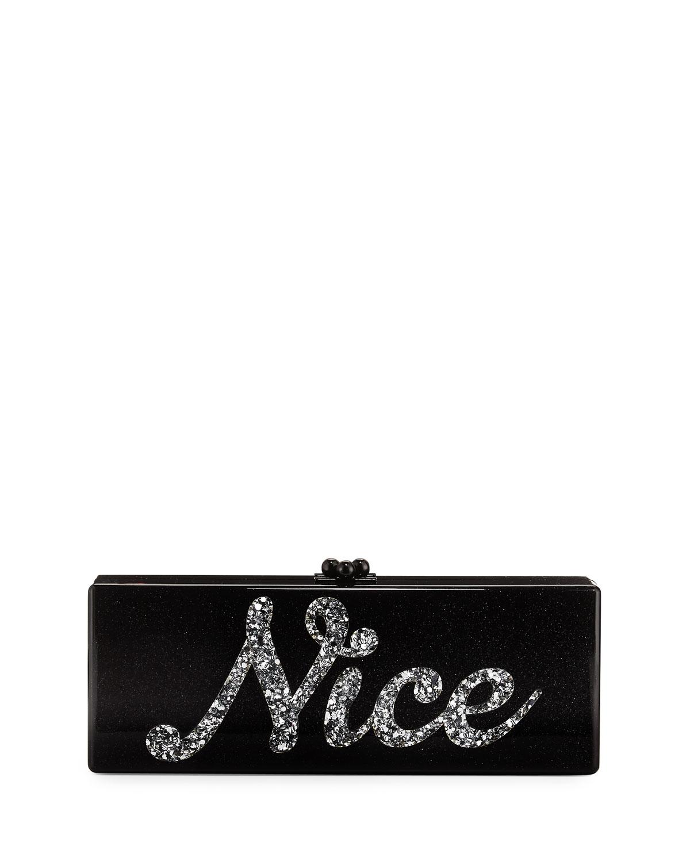 Naughty & Nice Flavia Clutch Bag, White