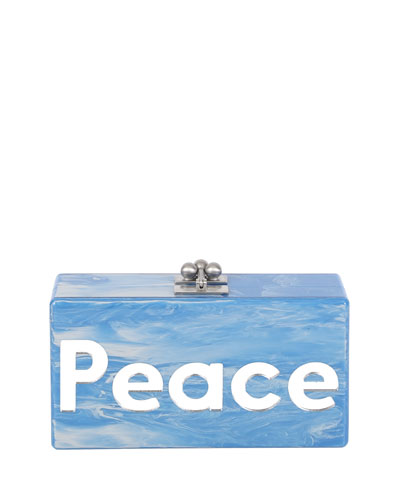Jean Peace & Love Acrylic Clutch Bag