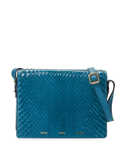 Pulce XL Anaconda Crossbody Bag, Atlantis