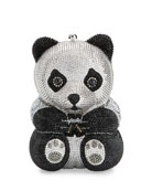 Ling Panda Evening Clutch Bag, Black/White