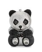 Ling Panda Evening Clutch Bag, Black/White