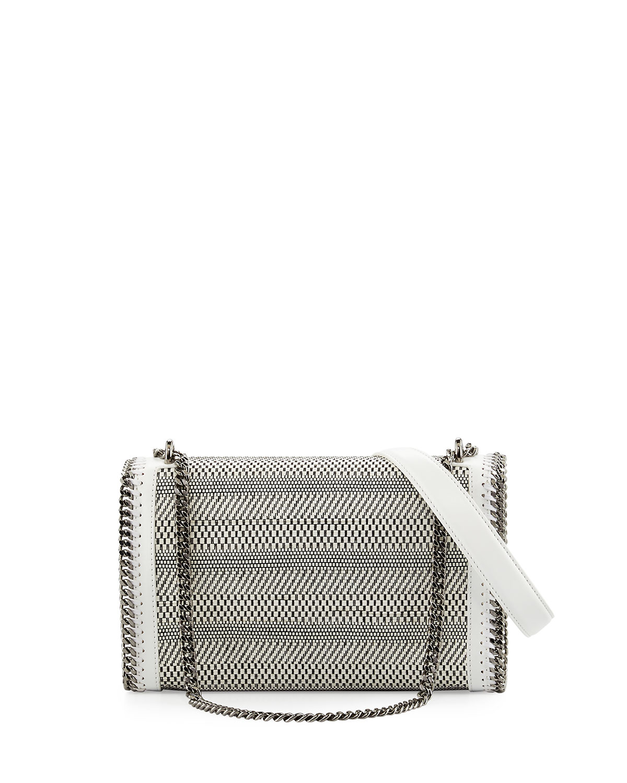 Woven Chain Crossbody Bag, White