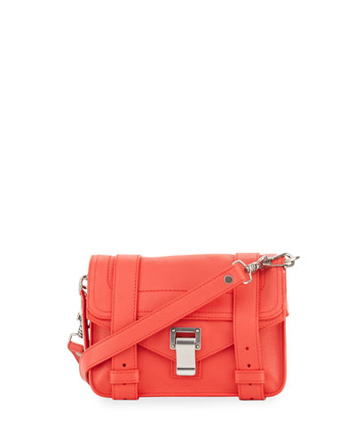 PS1 Mini Leather Shoulder Bag, Medium Red