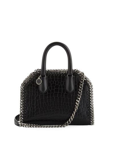 Mini Alter Crocodile-Embossed Handbag