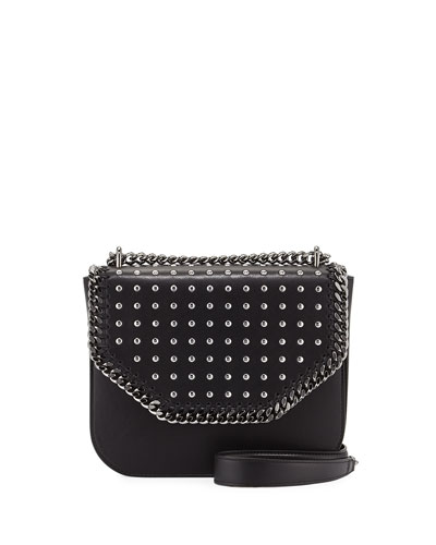 Studded Chain Shoulder Bag, Black