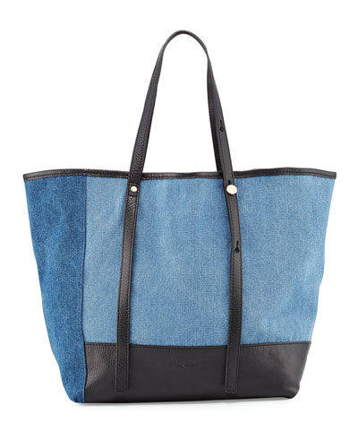 Andy Denim Tote Bag, Blue