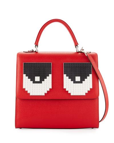 Alex Trompe l'Oeil Top-Handle Bag, Red
