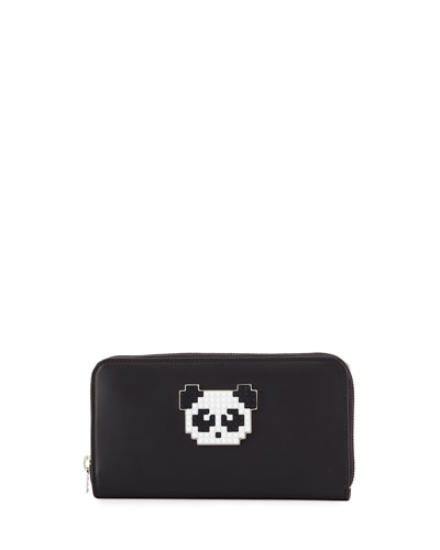 Muse II Large Lolita Panda Wallet, Black