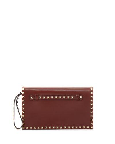 Rockstud Medium Flap Wristlet Clutch Bag