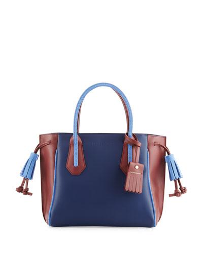 Penelope Tricolor Small Handbag, Blue/Multi