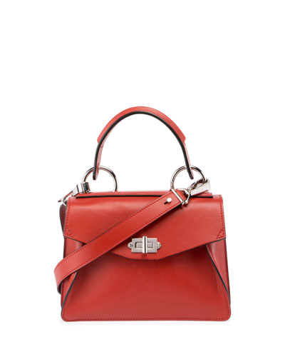 Hava Medium Top-Handle Satchel Bag, Brick