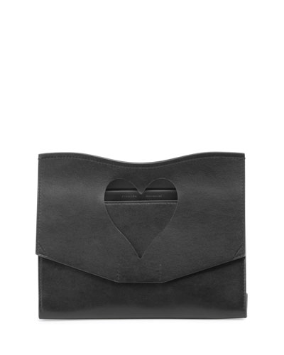 Curl Medium Cutout Clutch Bag, Black