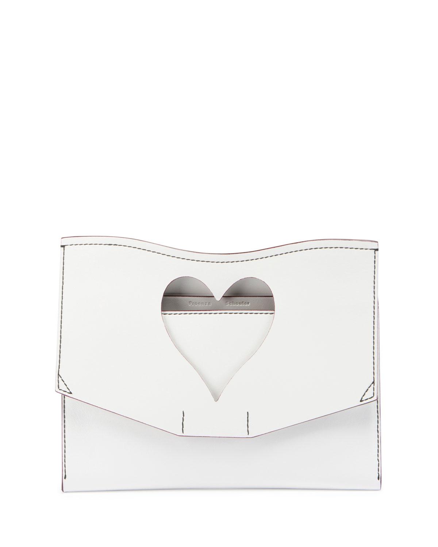 Curl Medium Cutout Clutch Bag, White