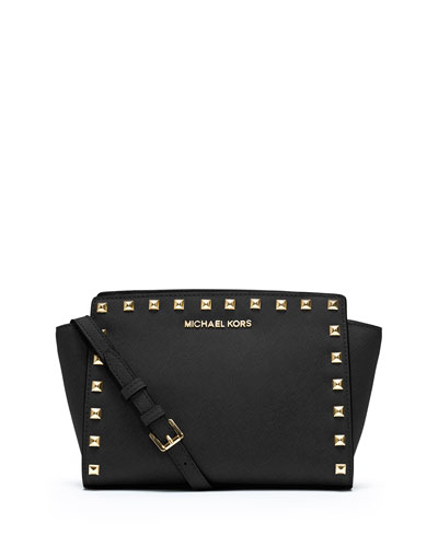 Selma Stud Medium Zip Messenger Bag
