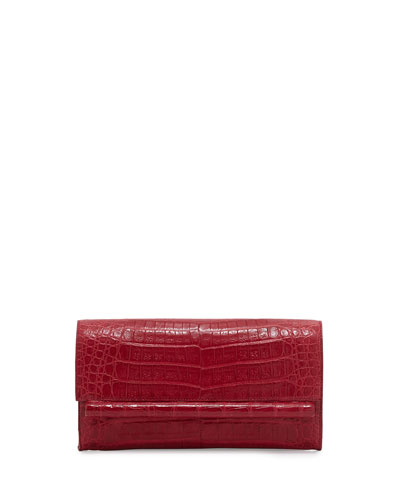 Small Crocodile Bar Clutch Bag