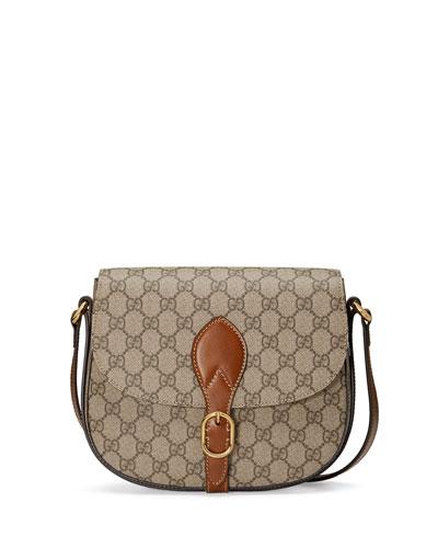 GG Supreme Small Buckle Saddle Bag