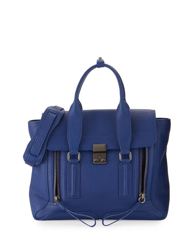 Pashli Medium Leather Satchel Bag