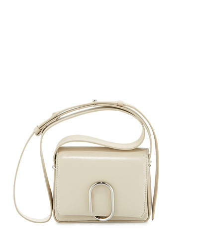 Alix Flap Mini Crossbody Bag, Chalk