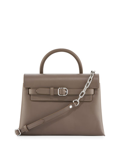 Attica Chain Crossbody Bag, Mink Gray