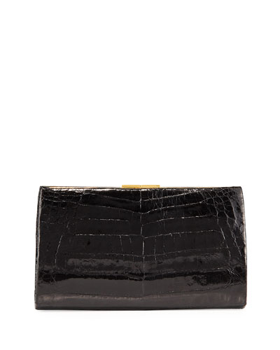 Frame Crocodile Clutch Bag