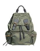 Medium Rucksack Runway Nylon Backpack, Thistle Gray