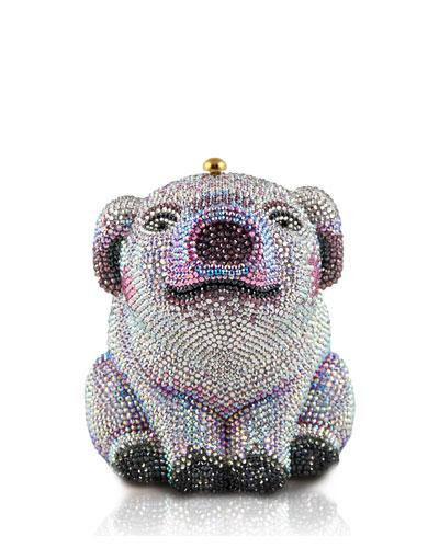 Piglet Crystal Minaudiere Clutch Bag