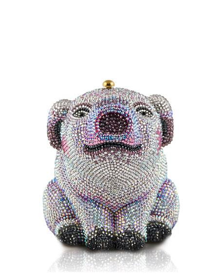 Judith Leiber Couture Piglet Crystal Minaudiere Clutch Bag