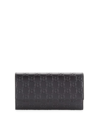 Gucci Signature Continental Wallet, Black
