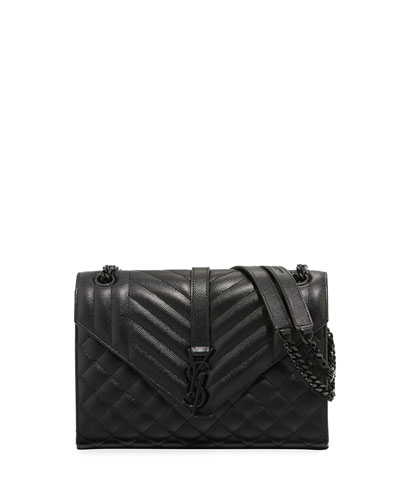 Monogram Medium Quilted Chain Shoulder Bag