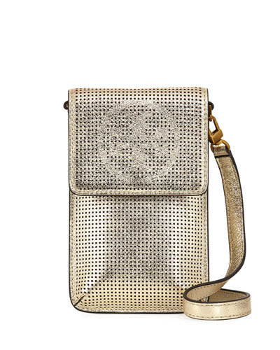 Perforated Metallic Crossbody Phone Case