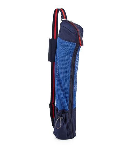 Varsity Mesh Sling Carrier for Yoga Mat, Blue / Multi