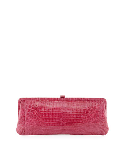 Small Frame Crocodile Clutch Bag