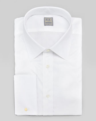 French-Cuff Dress Shirt, White