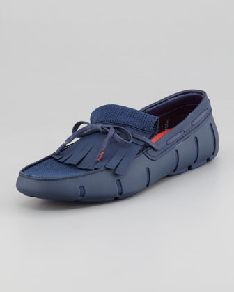 Rubber Kiltie Loafer, Shadow Blue