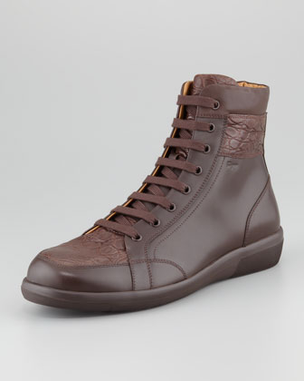 Austria2 High-Top Sneaker, Brown