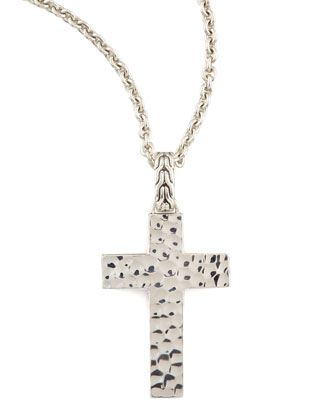 Palu Silver Cross Necklace