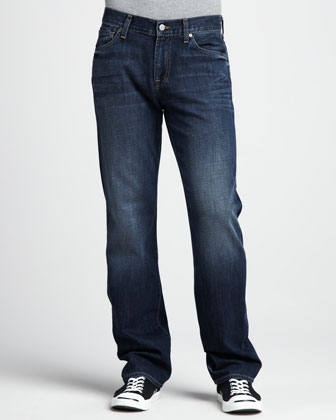 Austyn Relaxed Worn Blue Jeans