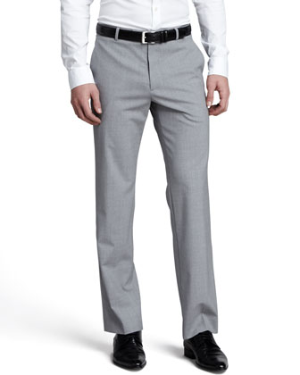 Cody Heathered Stretch-Wool Pants