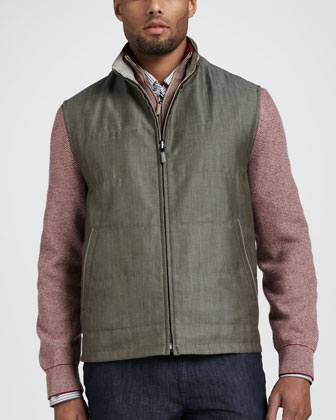 Reversible Herringbone Vest