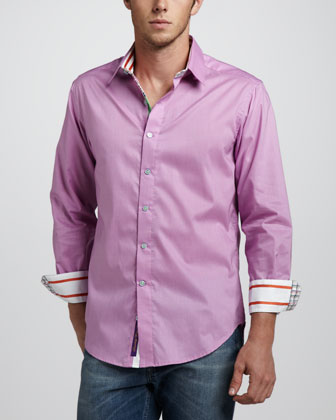X Collection Bay Shore Sport Shirt, Pink