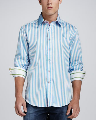 X-Collection Lanai Sport Shirt, Turquoise
