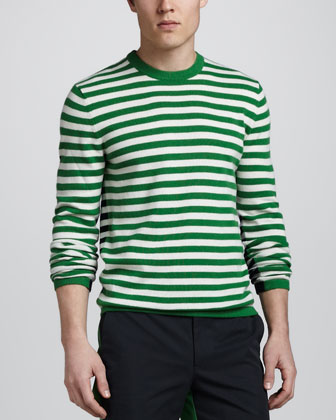 Michael Kors Striped Cashmere Sweater at Neiman Marcus image