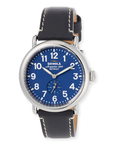 41mm Runwell Watch, Midnight Blue/Black