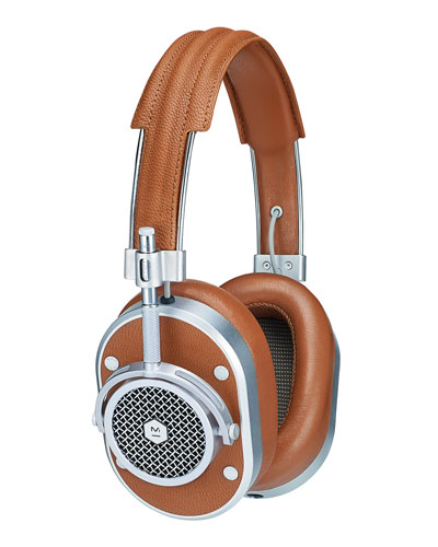 MH40 Noise-Isolating Over-Ear Headphones, Cognac/Silvertone