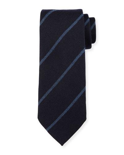 Woven Striped Silk Tie