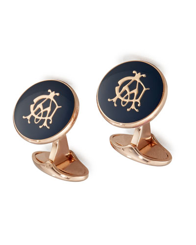 Bourdon Logo Rose Golden Cuff Links