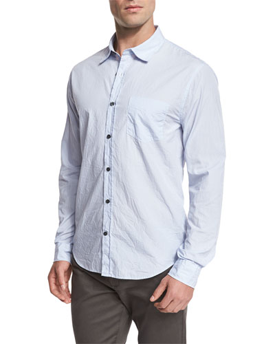 Striped Oxford Shirt, Light Blue