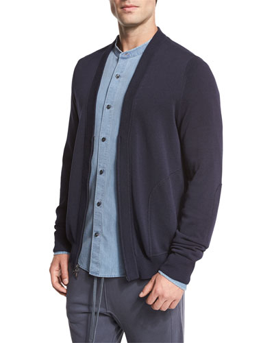 Zip-Front Cardigan, Navy